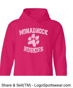 MRHS - adult pink sweatshirt Design Zoom