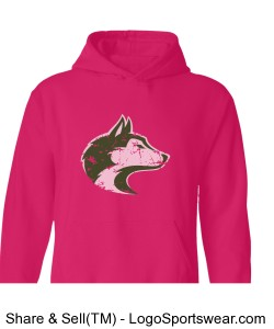 husky/trainharder - adult pink Design Zoom