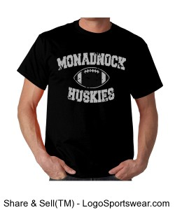 Monadnock Huskies - Adult T Black Design Zoom