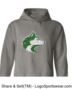 Husky/Train Harder - Adult Sweatshirt Design Zoom