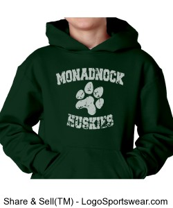 MRHS - youth green sweatshirt Design Zoom
