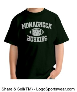 Monadnock Huskies - Youth T Green Design Zoom