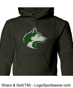 Husky - Youth Sweatshirt Charcoal Design Zoom