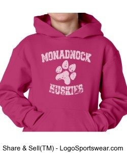 MRHS - youth pink sweatshirt Design Zoom