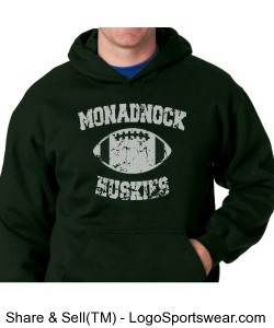 Monadnock Huskies - Adult Sweatshirt Green Design Zoom