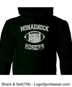 Monadnock Huskies - Youth Sweatshirt Green Design Zoom