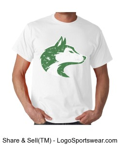 Husky - Adult T White Design Zoom