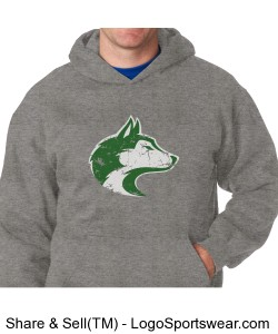 Husky - Adult Sweatshirt Grey Design Zoom