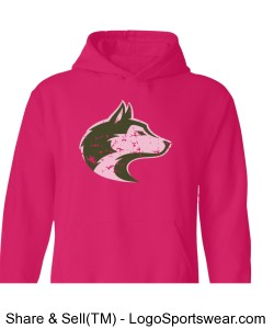 Husky Head - Adult Pink Sweatshirt Design Zoom