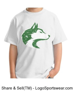 Husky - Youth T White Design Zoom